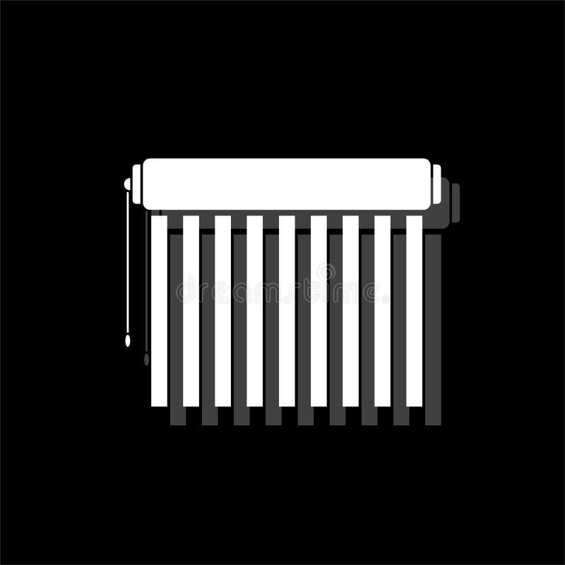 Jalousie icon flat vector illustration