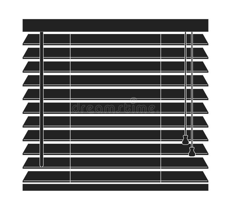 Jalousievektor Ikone lokalisiert auf einem weißen Hintergrund stock abbildung