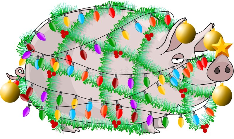 Jamón de la Navidad ilustración del vector