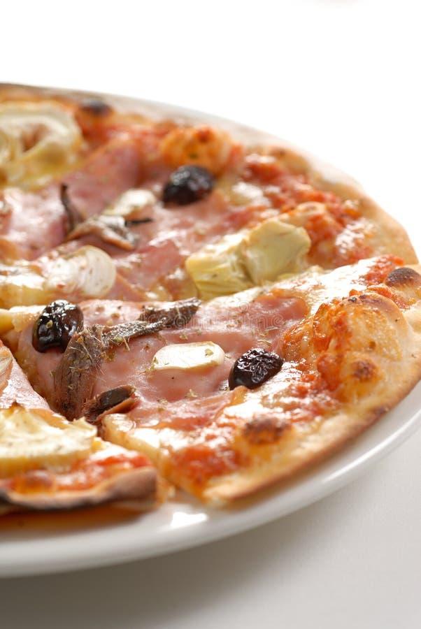 Jamón de la pizza fotografía de archivo
