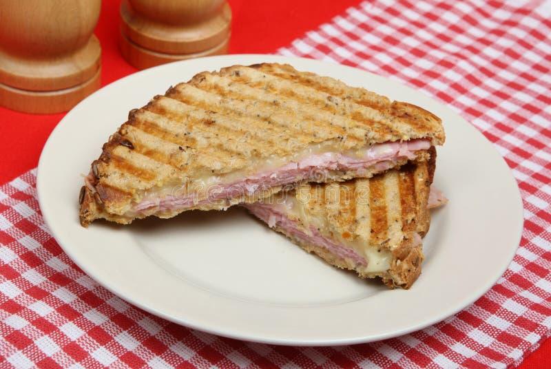 Jamón y queso Panini imagen de archivo libre de regalías
