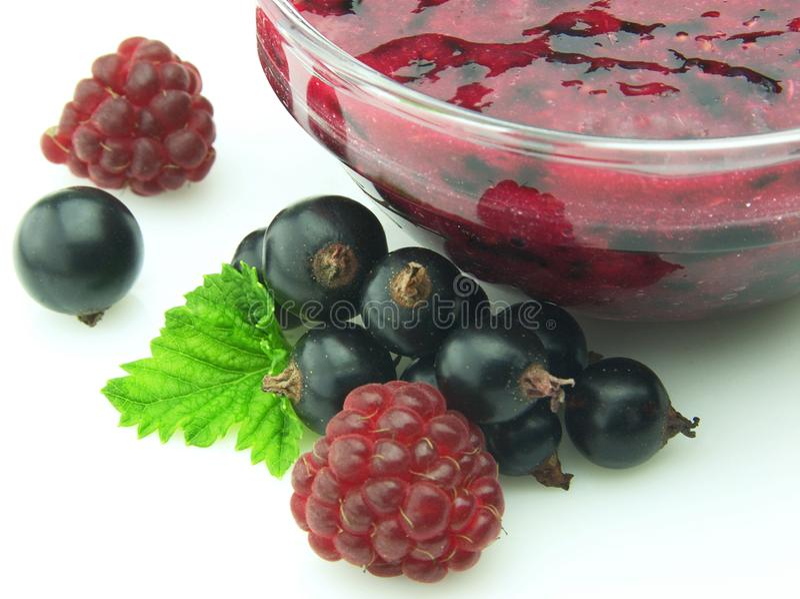 Jam with berries