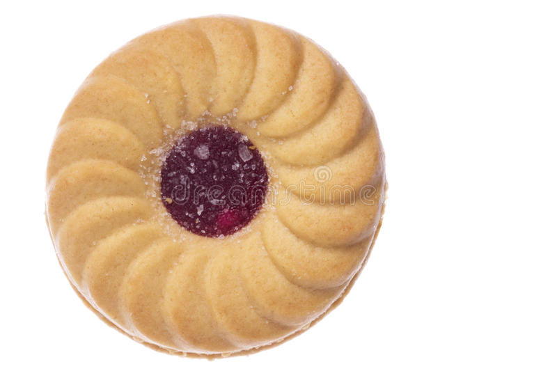 Jam Biscuit Macro Isolated royalty free stock image