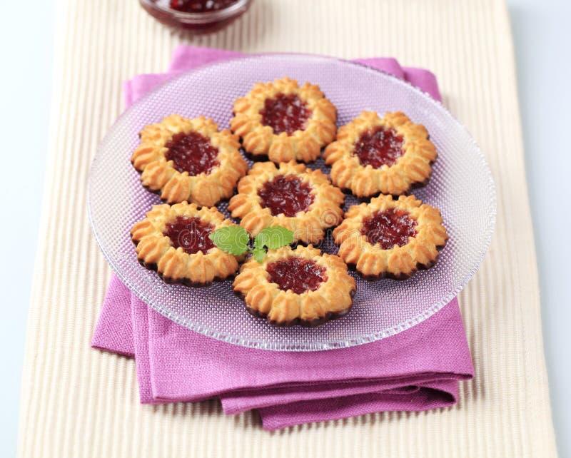 Jam cookies stock images