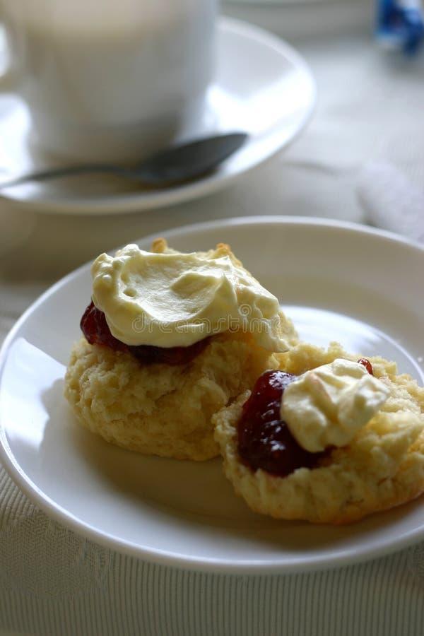 Download Jam & Cream Scones Royalty Free Stock Photos - Image: 514608