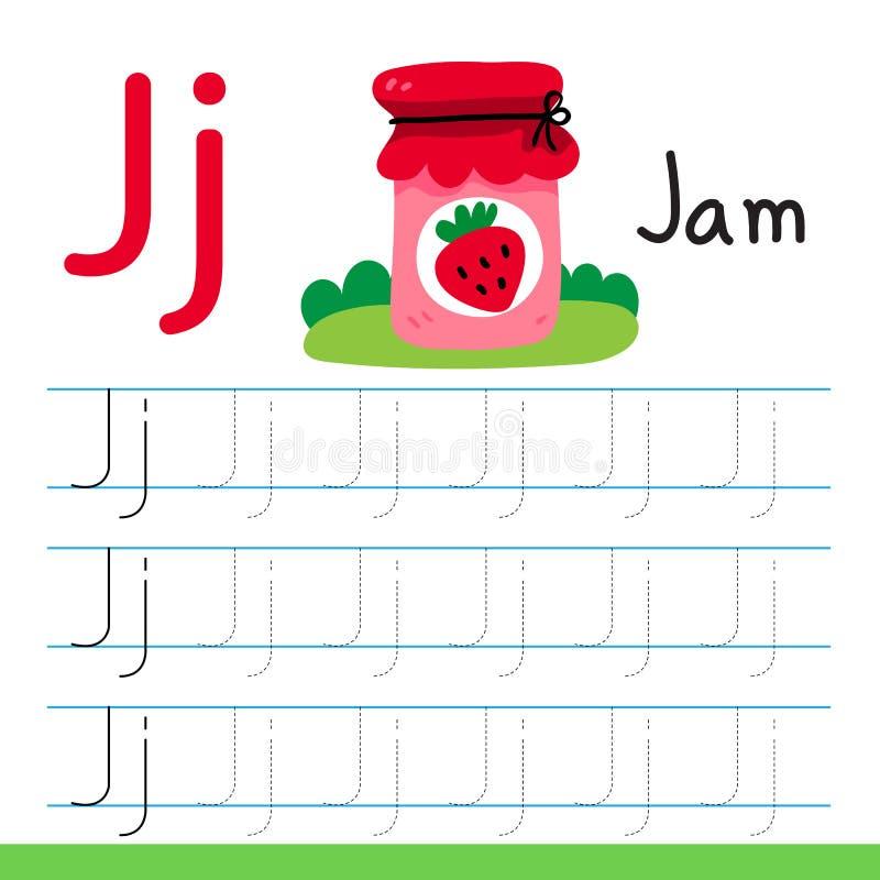 Jam drawing line vector design. Jam line drawing vector design stock illustration