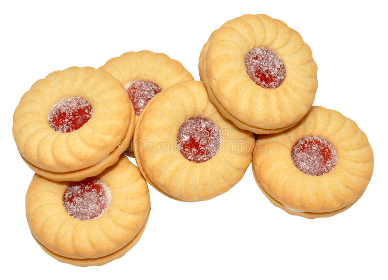 Jam Filled Biscuits royalty free stock photo
