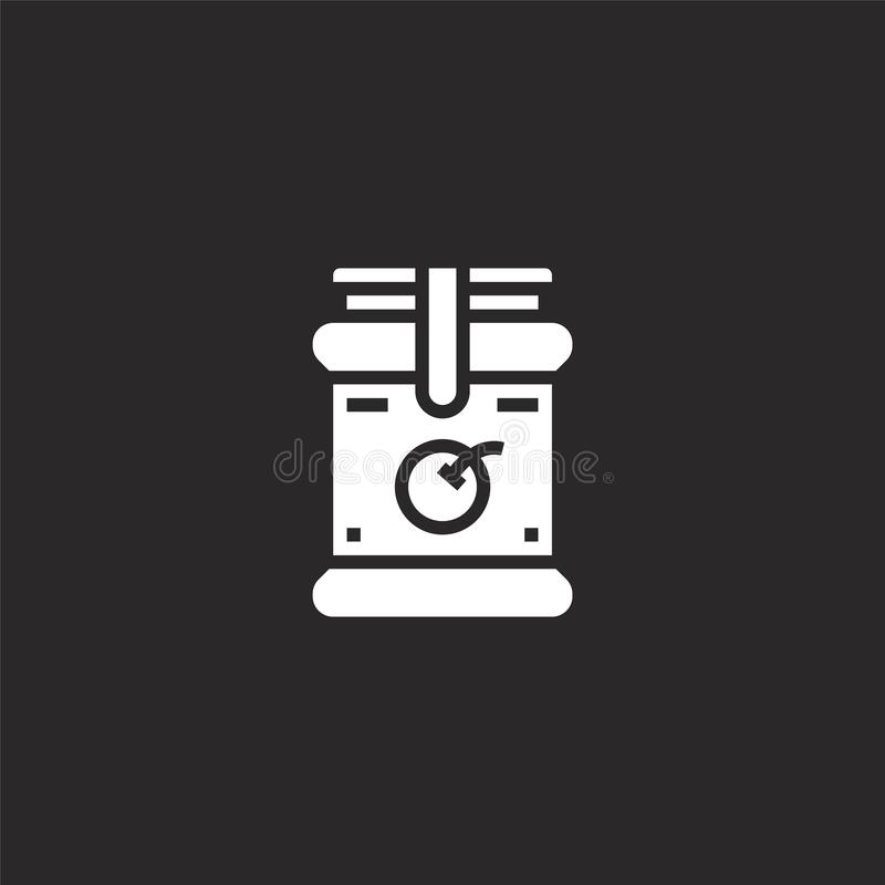Jam icon. Filled jam icon for website design and mobile, app development. jam icon from filled breakfast collection isolated on. Black background vector illustration