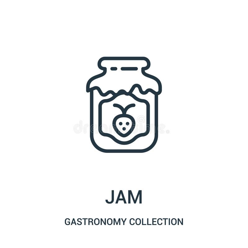 jam icon vector from gastronomy collection collection. Thin line jam outline icon vector illustration stock illustration