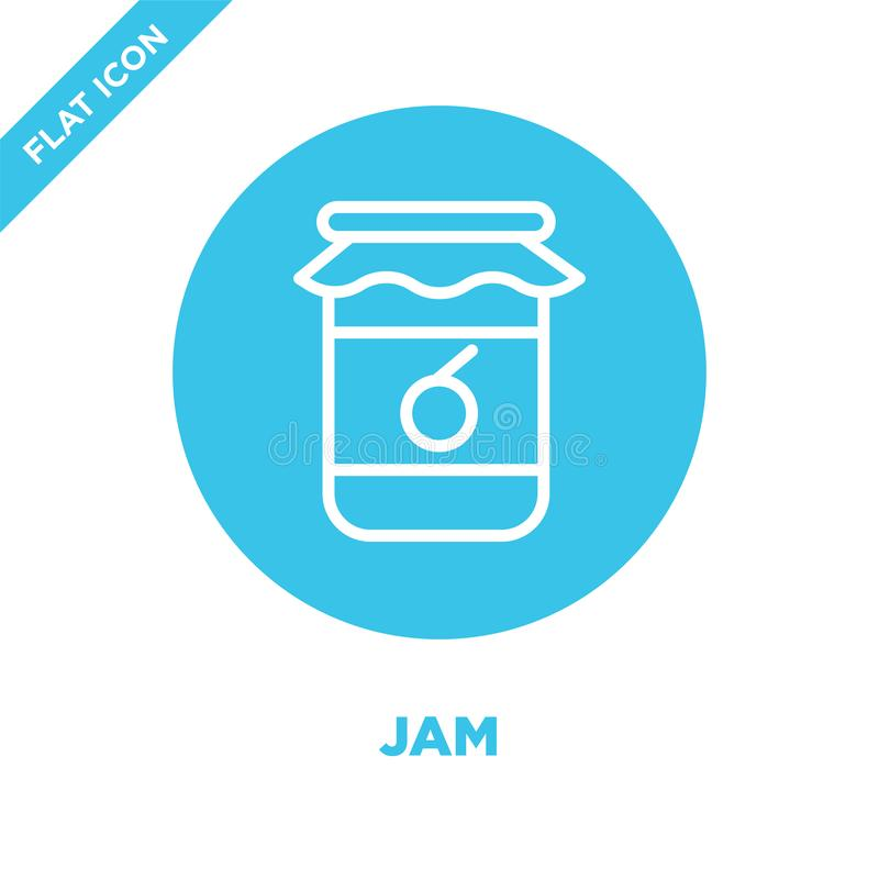 jam icon vector from seasons collection. Thin line jam outline icon vector  illustration. Linear symbol for use on web and mobile royalty free illustration