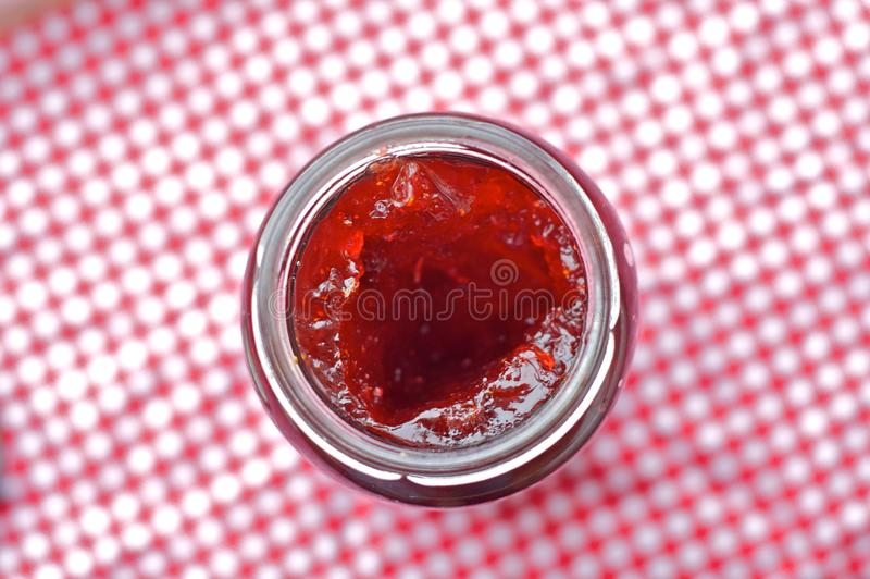 Download Jam Jar stock photo. Image of gingham, strawberry, sweet - 13412380