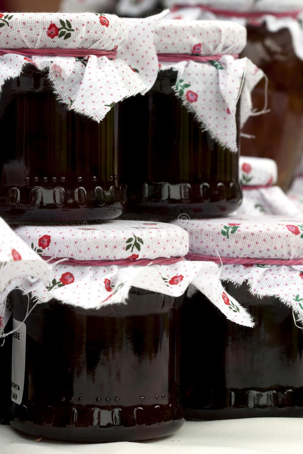 Download Jam jars stock image. Image of sell, label, homemade - 15773291