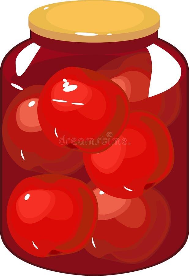 Jam met appel royalty-vrije illustratie