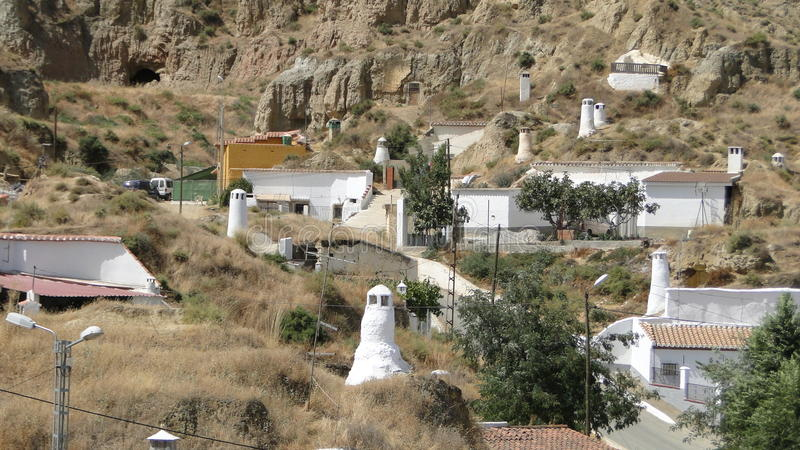 Jam mieszkania w Guadix, Hiszpania zdjęcia stock