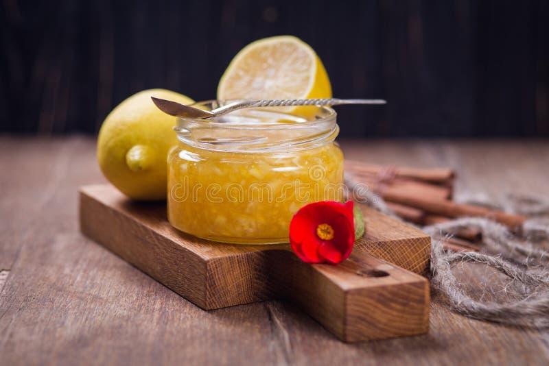 Jam van citroen royalty-vrije stock foto's