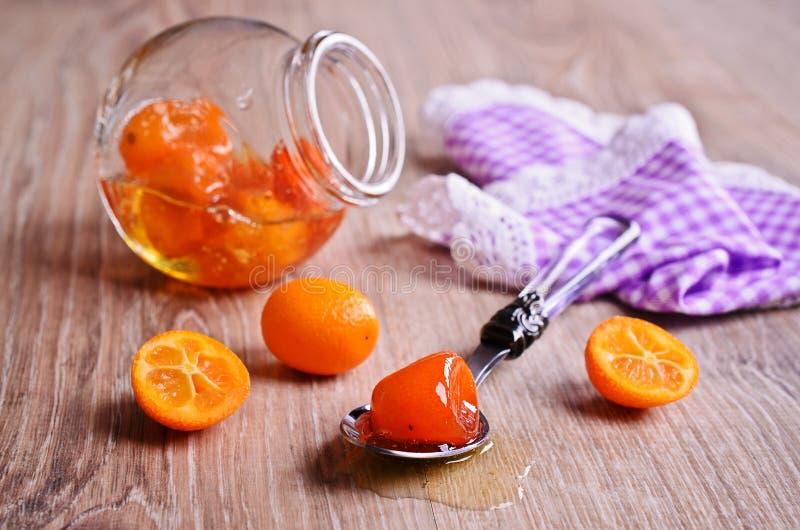 Jam van kumquats royalty-vrije stock fotografie