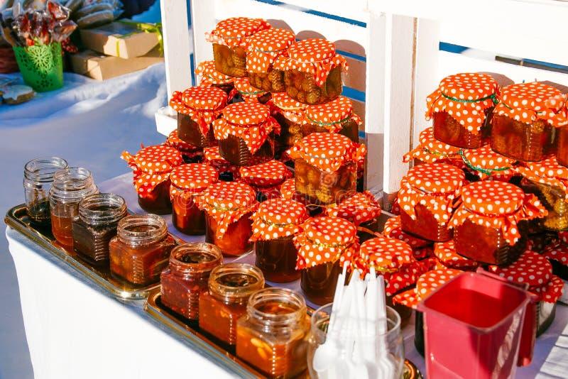 Jam van pinecone stock foto's