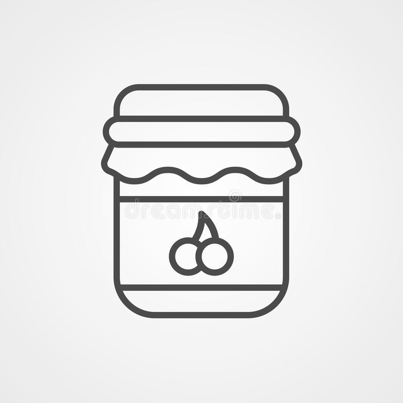 Jam vector icon sign symbol. Icon vector, filled flat sign, solid pictogram isolated on white. Symbol, logo illustration royalty free illustration