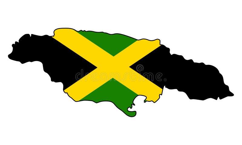 jamaïca Kaart van de vectorillustratie van Jamaïca royalty-vrije illustratie