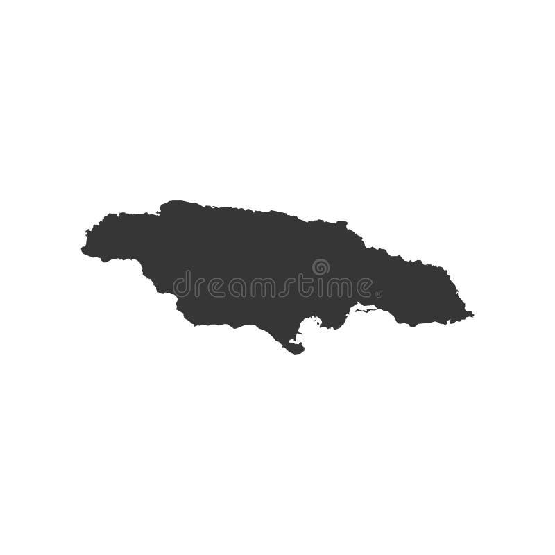 Jamaïca-kaartoverzicht royalty-vrije illustratie