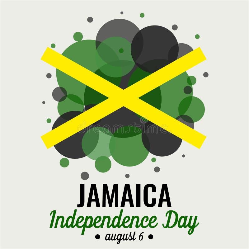 Jamaïca-onafhankelijkheidsdag royalty-vrije illustratie