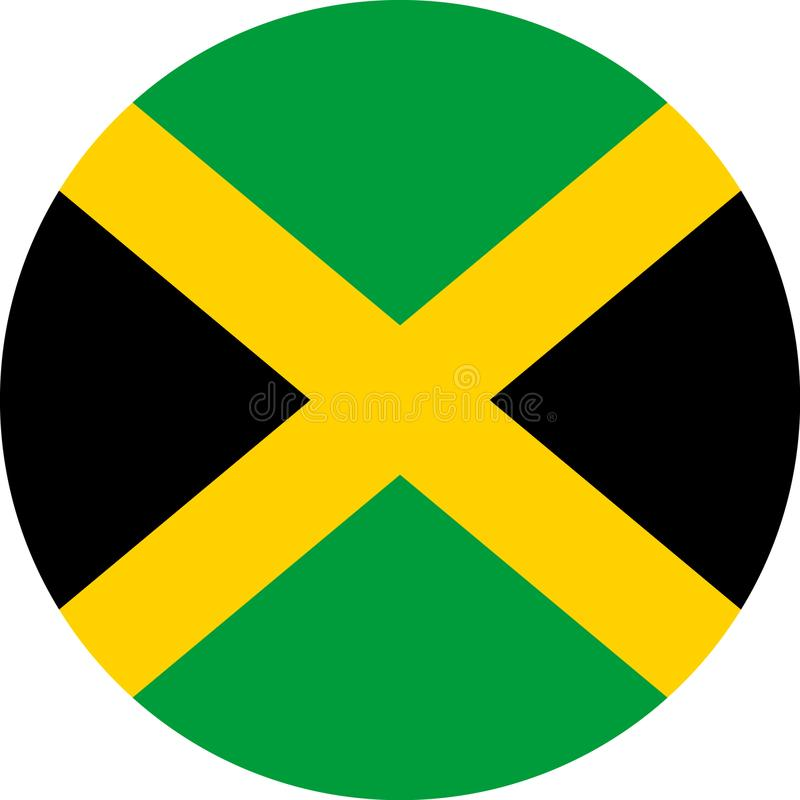 Jamaïca-Vlag Amerikaanse illustratie vectoreps royalty-vrije illustratie
