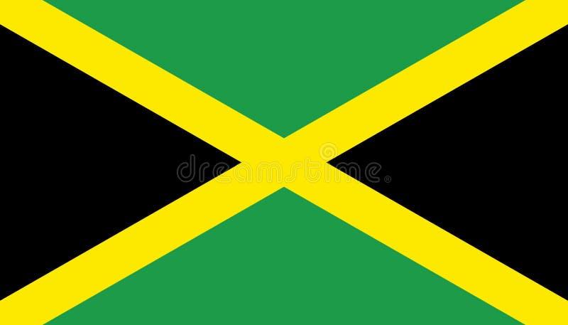 Jamaïca-vlagpictogram in vlakke stijl Nationale teken vectorillustratie Politiek bedrijfsconcept stock illustratie