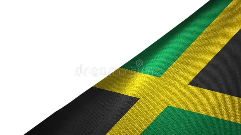 Jamaïca-vlagrechterkant met lege exemplaarruimte vector illustratie