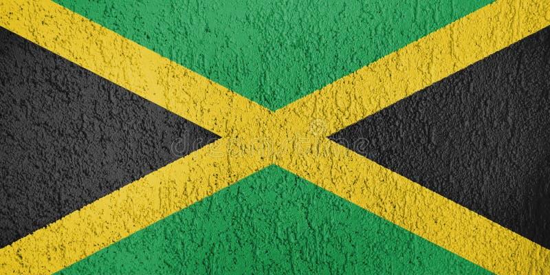 Jamaïca-vlagtextuur royalty-vrije illustratie