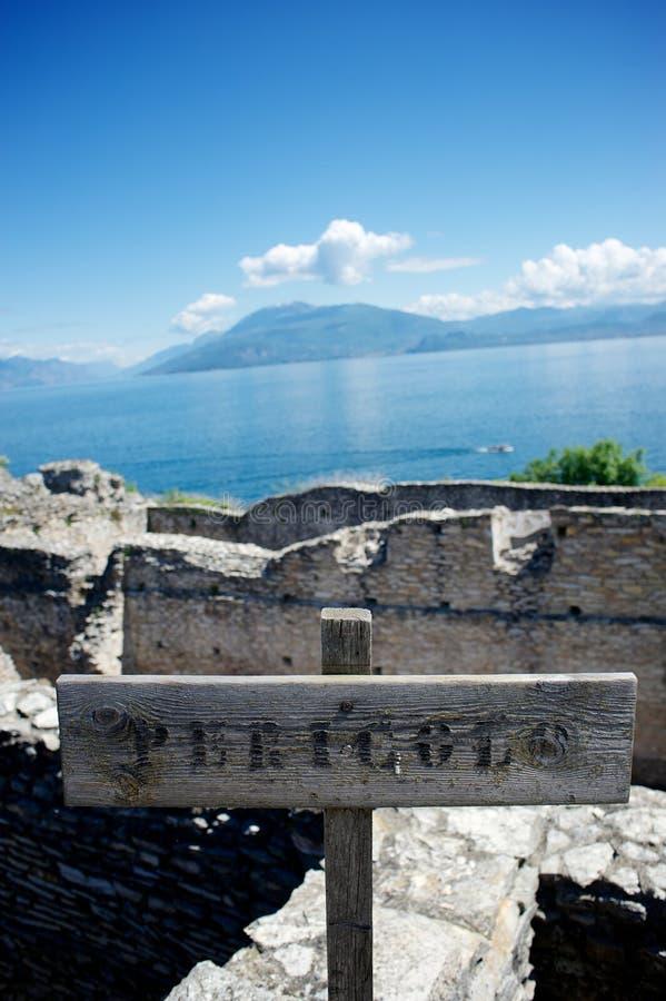Jama Catullus, Włochy fotografia stock