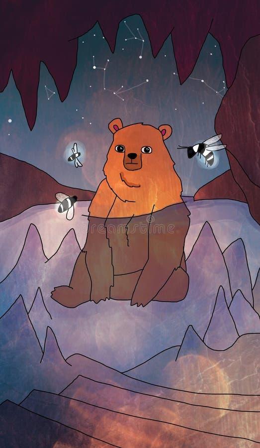 Jama grizzly niedźwiedź zdjęcia royalty free
