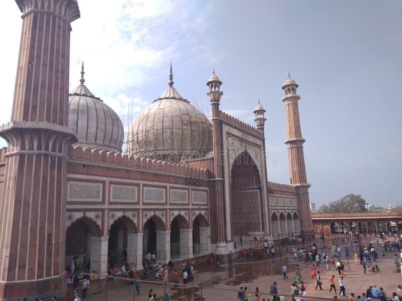Jama masjid,清真寺,德里,印度 免版税图库摄影