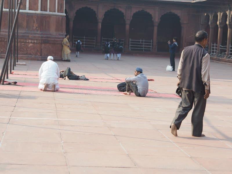 Jama Masjid Индия Dehli стоковые фотографии rf