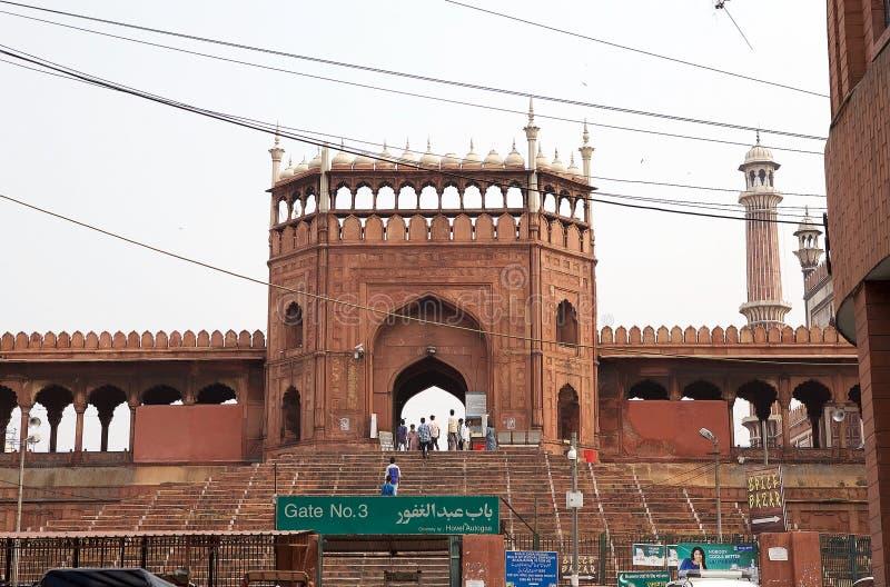 Jama Masjid de Deli, Índia imagem de stock