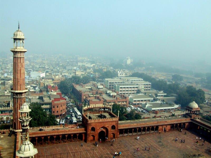 Jama masjid in delhi stock photography