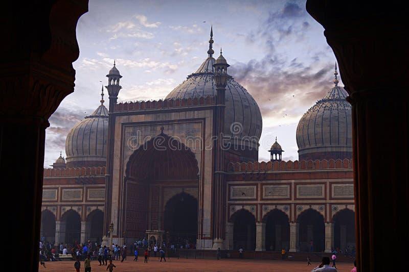 Jama Masjid em Deli, Índia fotos de stock