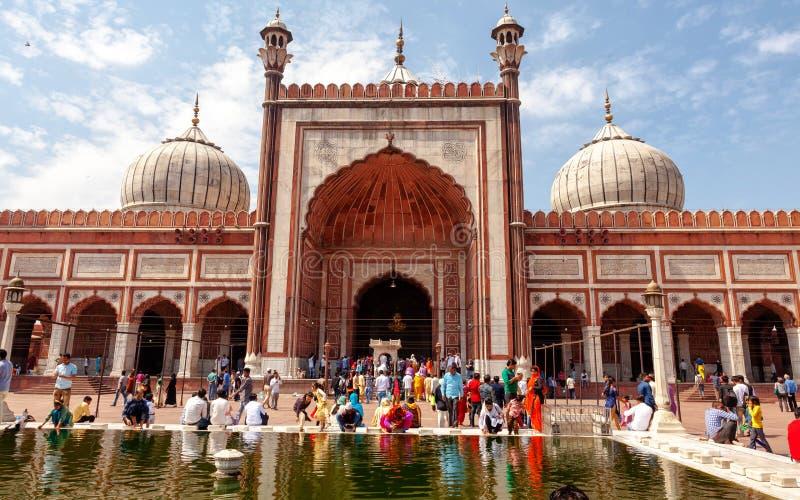 Jama Masjid-Front stockfoto
