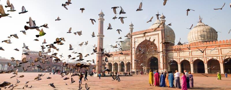 Jama Masjid (gran mezquita) imagenes de archivo