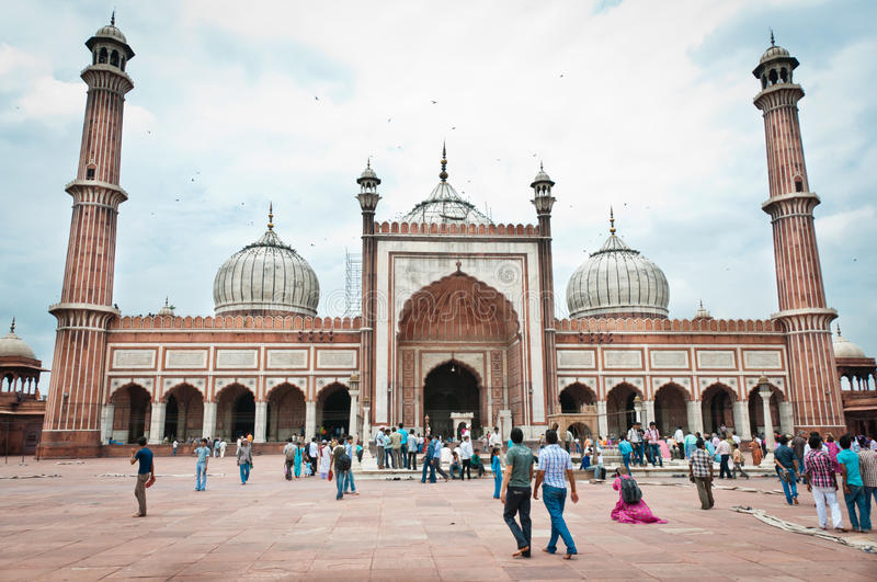 Jama Masjid, India's largest mosque royalty free stock images
