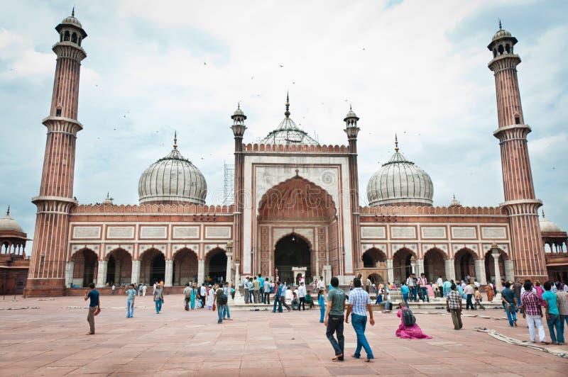 Jama Masjid, la mezquita más grande de la India imágenes de archivo libres de regalías