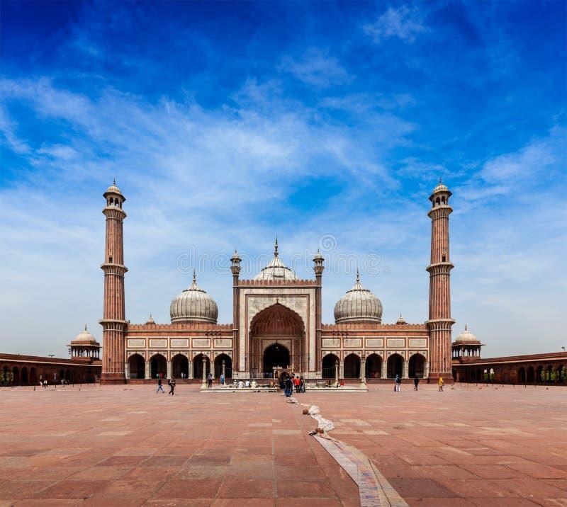 Jama Masjid - la mezquita musulmán más grande en la India foto de archivo