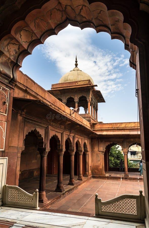 Jama Masjid Mosque. In Delhi, India stock photo