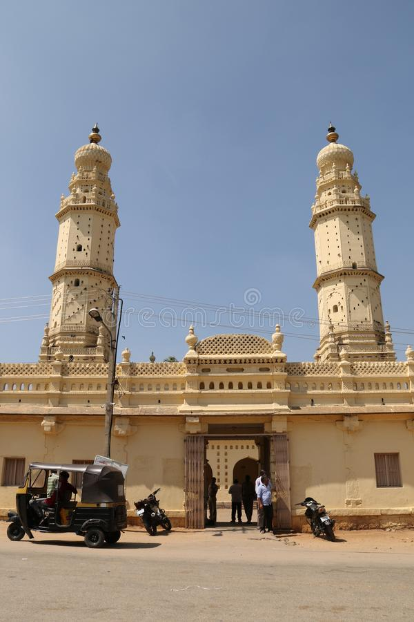Jama Masjid Srirangapattana στοκ εικόνες