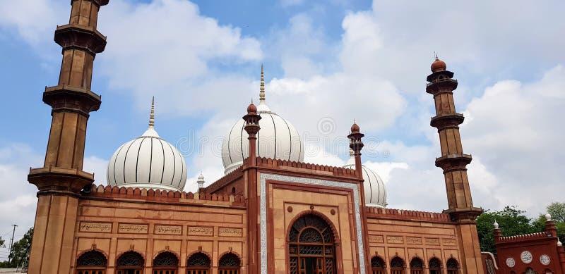 Jama Masjid vid det muslimska universitetet i Aligarh arkivfoto