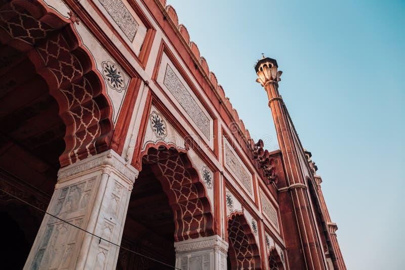 Jama Masjid w Delhi, India fotografia royalty free
