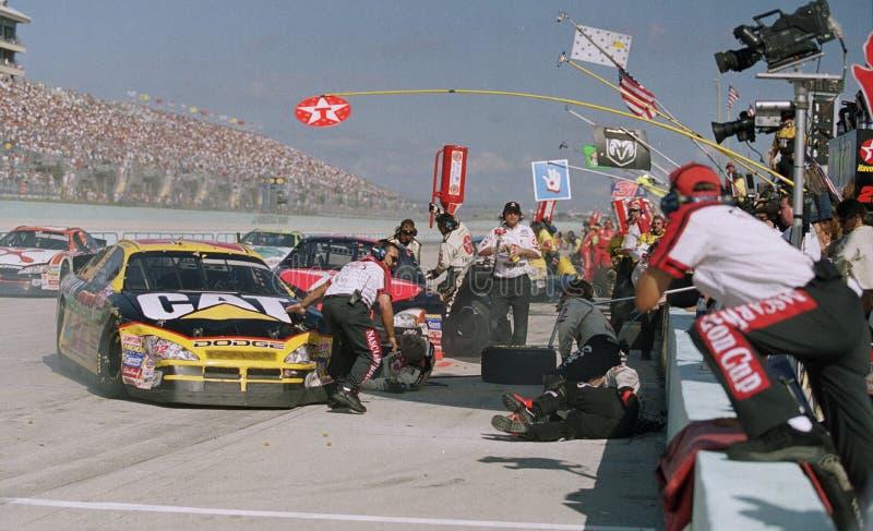 Jama wrak który zmieniał reguły dla NASCAR zdjęcia stock