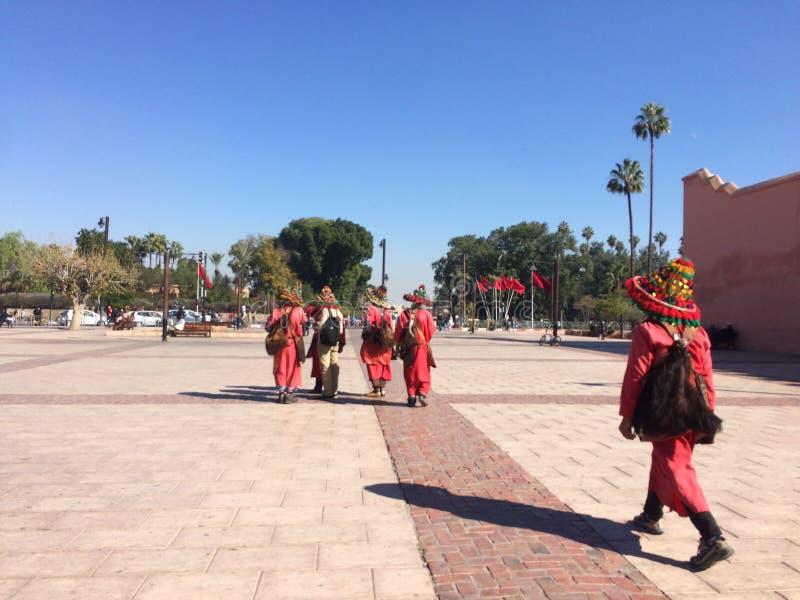 Jamaaelfna van Marrakech Marokko royalty-vrije stock foto's