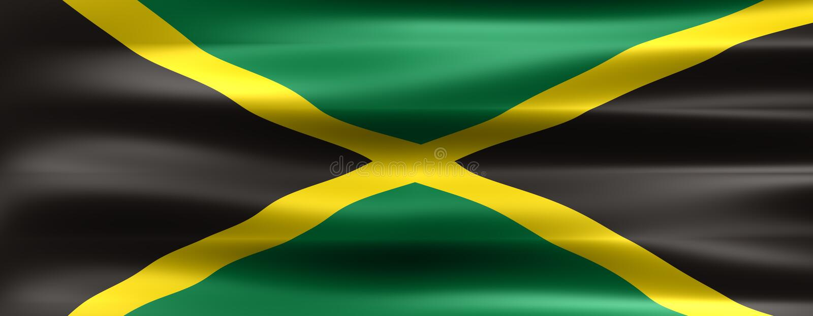 Jamaica. Flag - Symbol of a country royalty free illustration