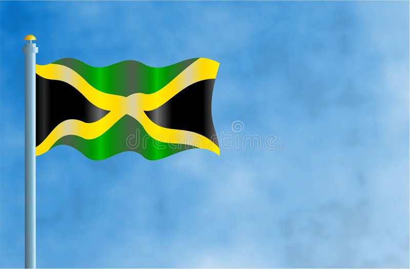 Jamaica. National flag of Jamaica royalty free illustration