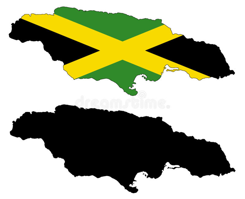 jamaica royaltyfri illustrationer
